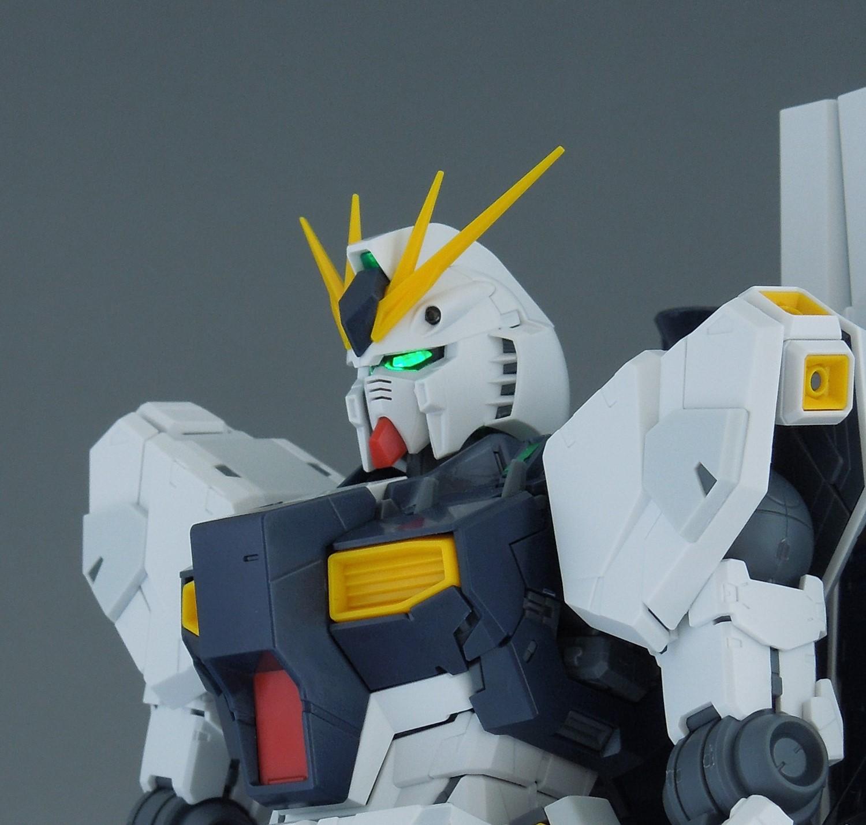 ガンプラ【MG νガンダム Ver.Ka】レビューその⑧ LED部調整?とスミ入れ