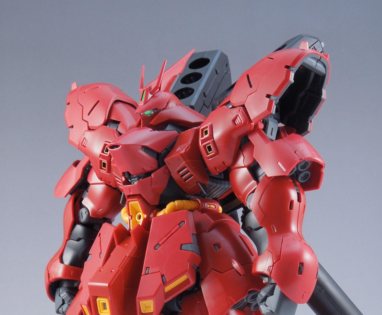 ガンプラ【RG サザビー】レビューその④ 外部装甲取り付け~本体完成、可動範囲検証まで
