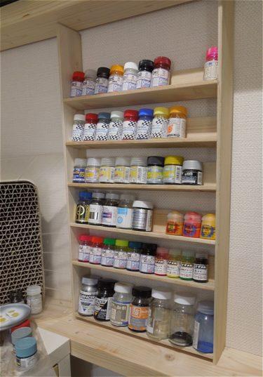 DIY【ディアウォールと100均アイテムを使って塗料棚製作】その①