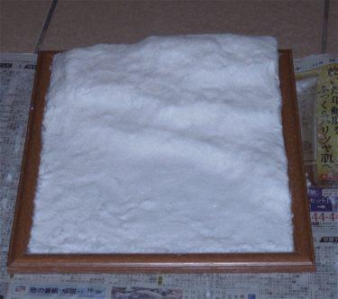 ジオラマを作ってみよう! 第一回 雪原