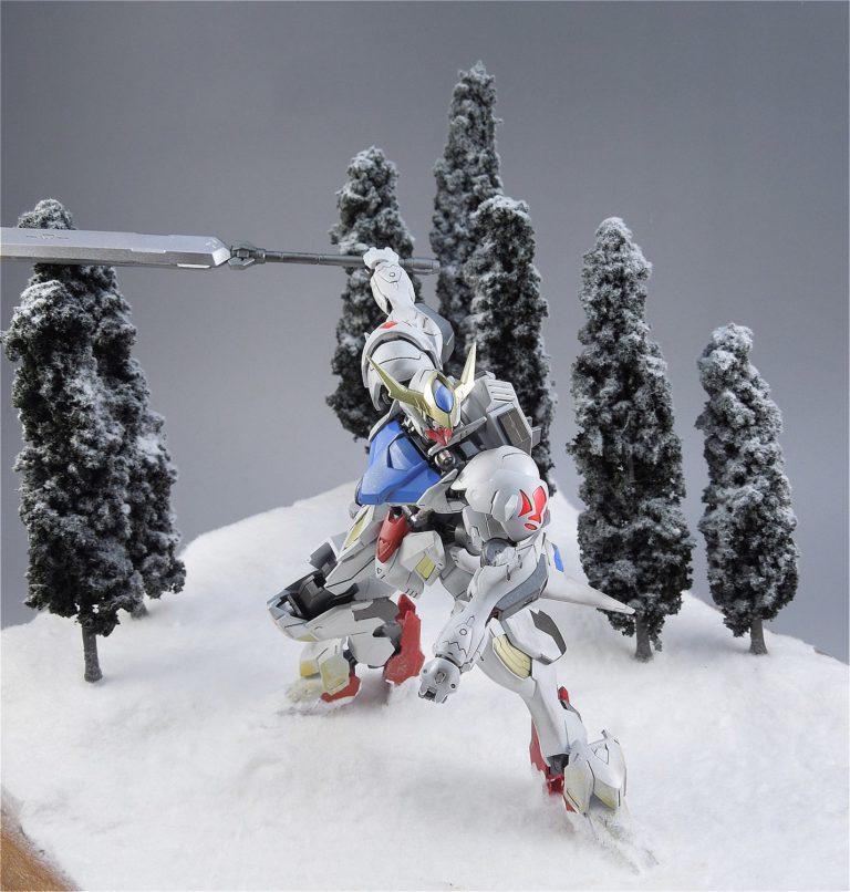 HGバルバトスを使ったジオラマ、雪景色編